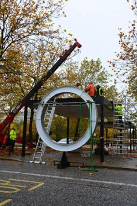 Installation of David Batchelor's Chromocochere starting in Midsummer Boulevard today