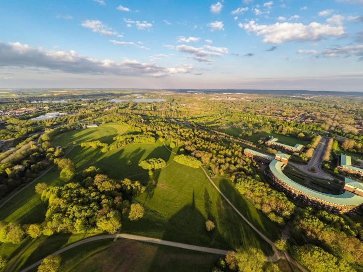 MK's green spaces. Aerial view, courtesy The Parks Trust. Photo: Steve Carey